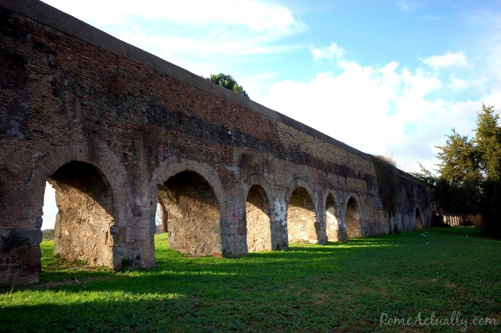 Claudian Aqueduct, also known as Aqua Claudia