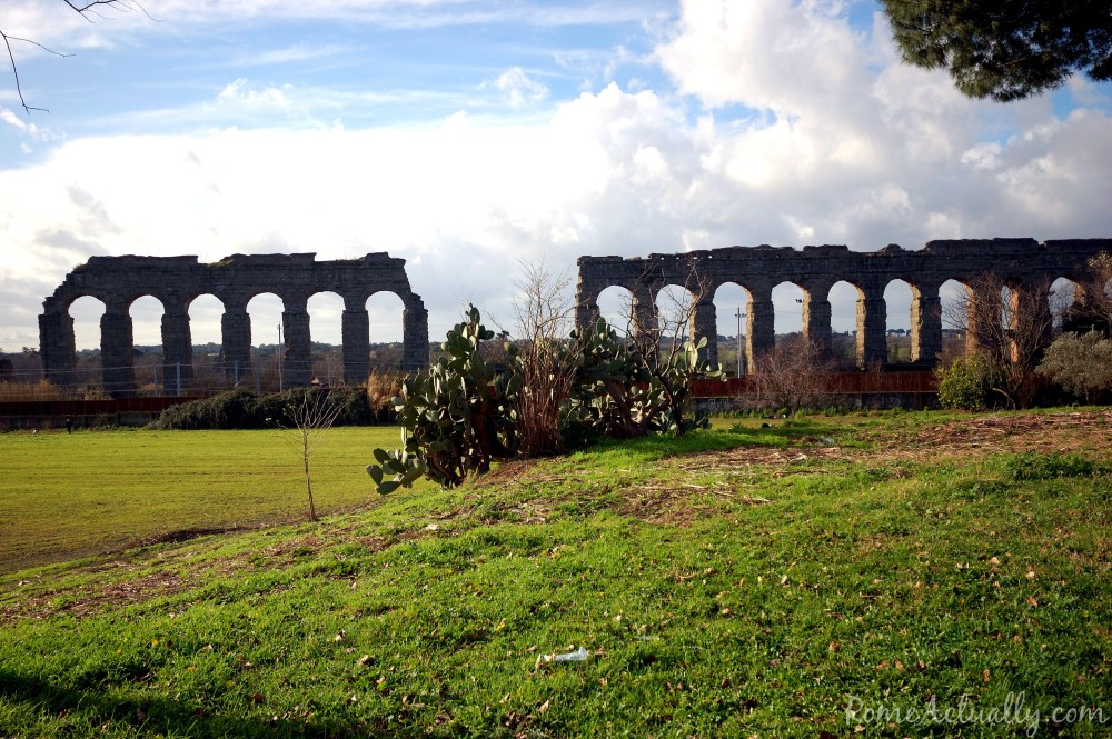 Another view of the Claudian Aqueduct park