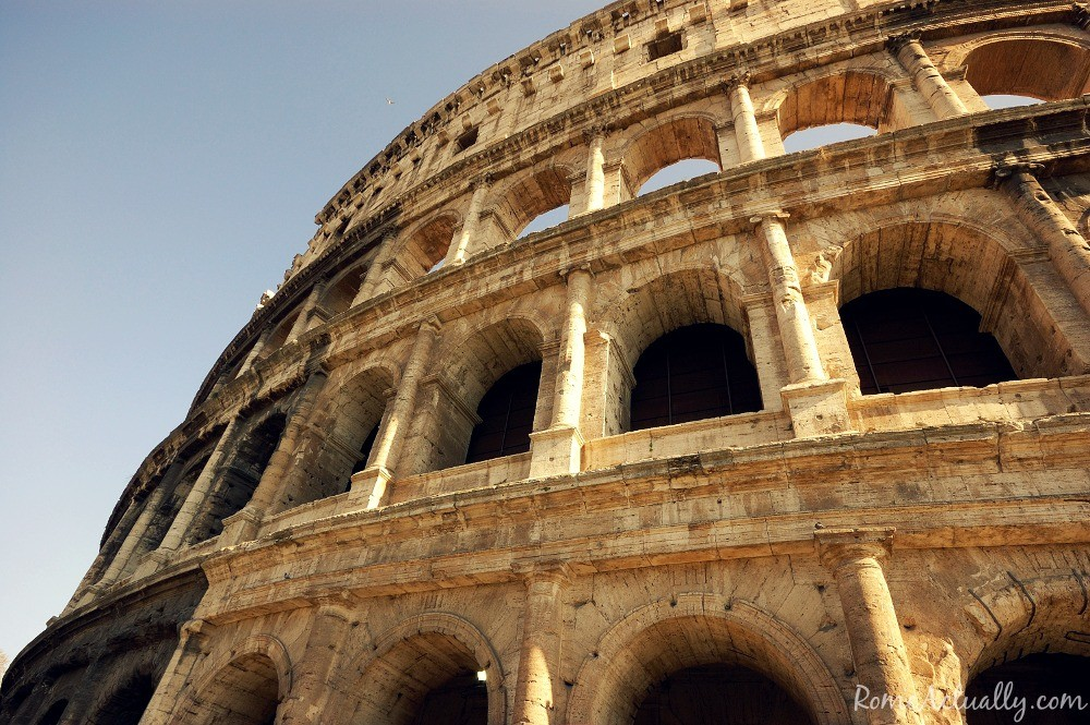 A detail from the Colosseum facade
