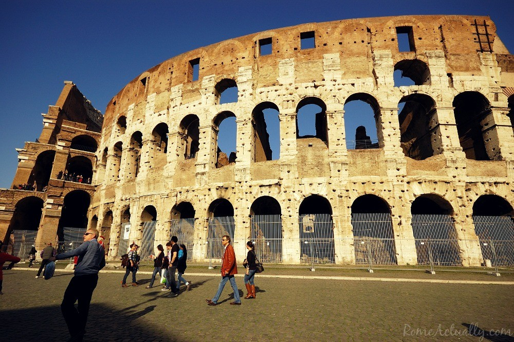 The Colosseum from behind