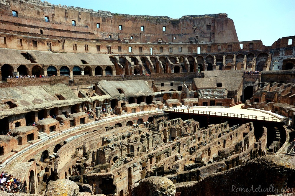 Another view from inside the Colosseum.