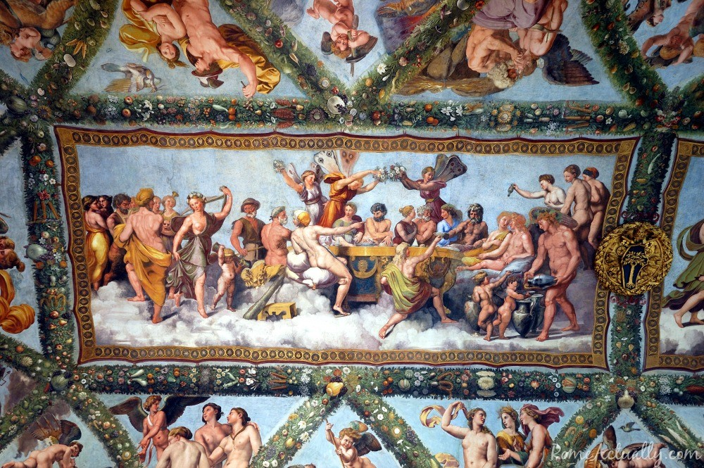 Another detail of Raphael's frescoes at Villa Farnesina in Rome