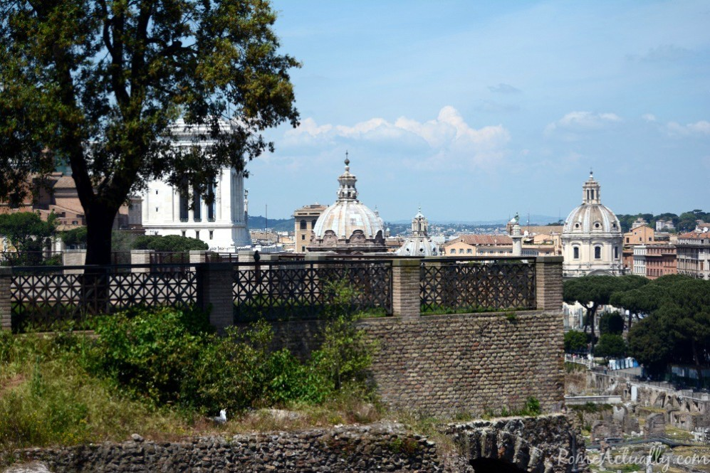 The view on the city from the high point of the Roman Forum
