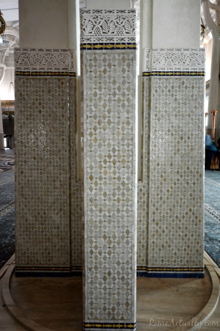 Pillars inside the mosque