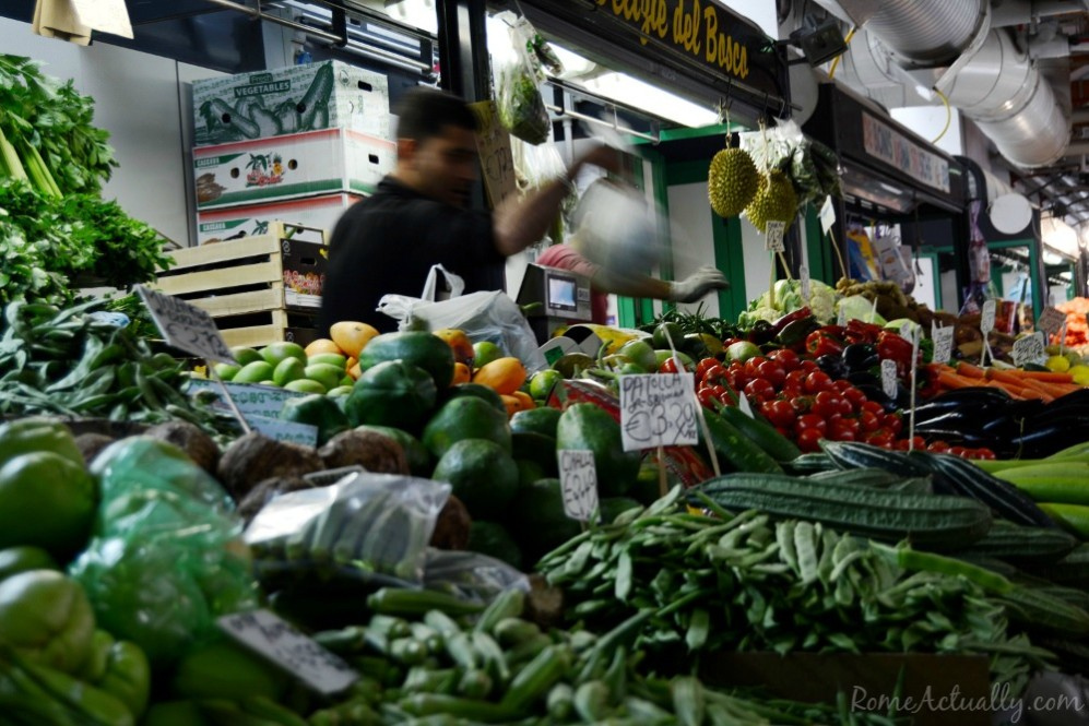 All types of veggies from different corners of the planet, none excluded, in Esquilino market