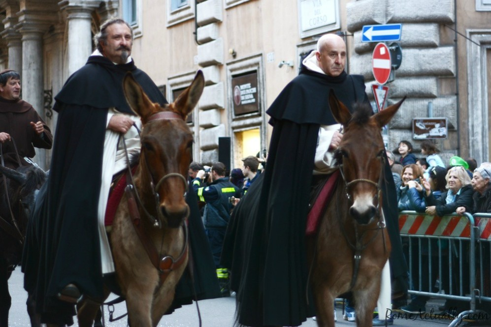 Having played a major role after the end of imperial Rome, the clergy couldn't miss the parade