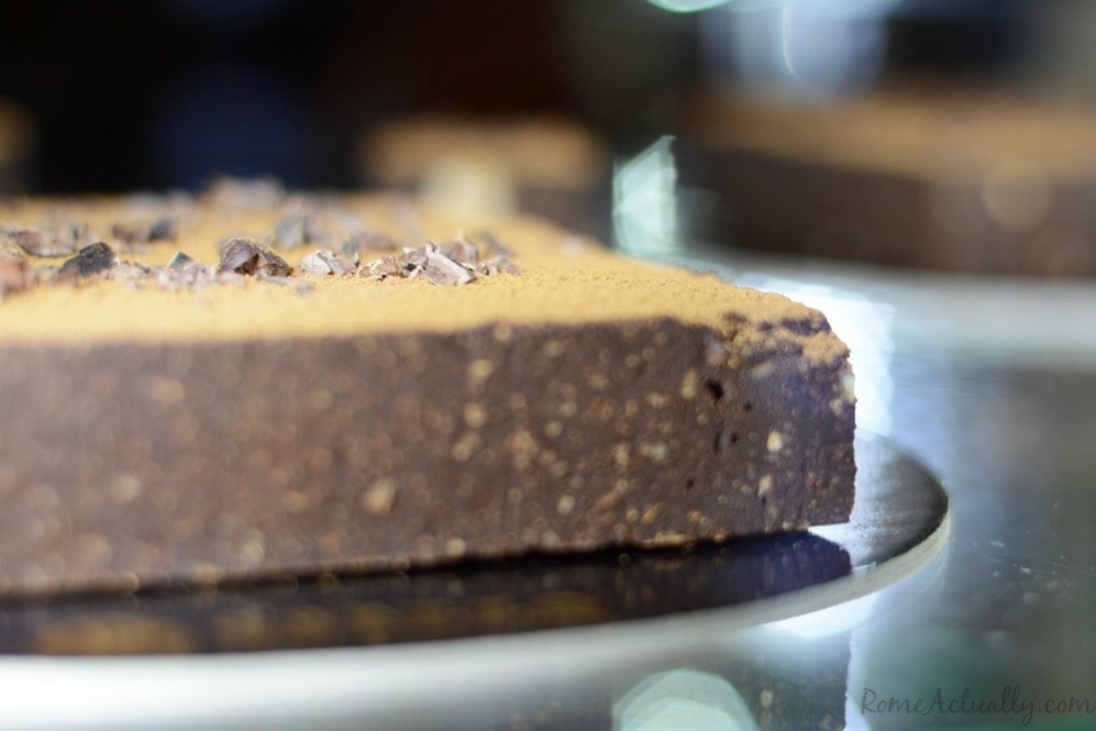 Raw vegan chocolate and hazelnut cake