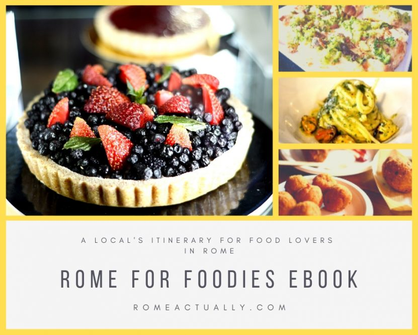 Rome for Foodies eBook - A local's itinerary for food lovers in Rome