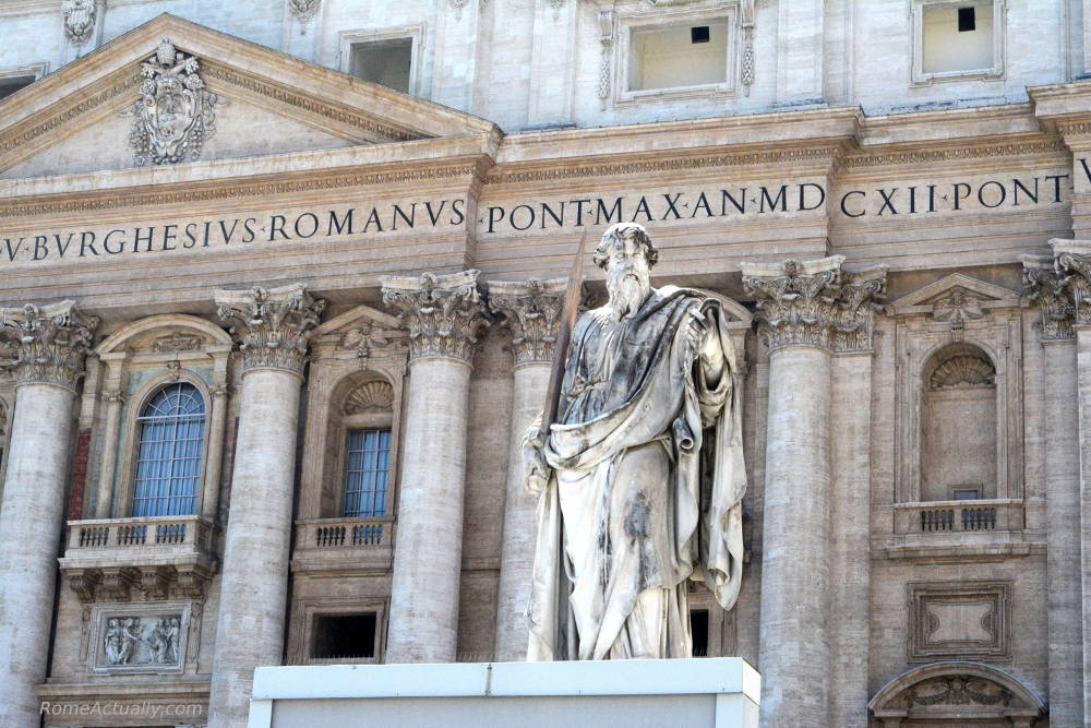st paul statue in St. Peter's Square